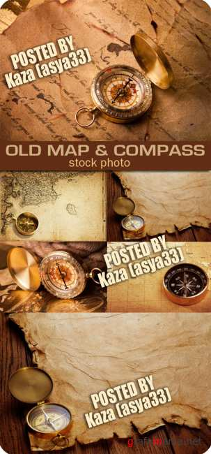 Old map & compass 4