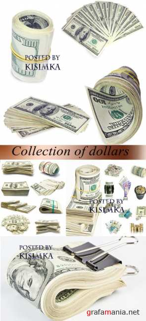 Stock Photo: Collection of dollars