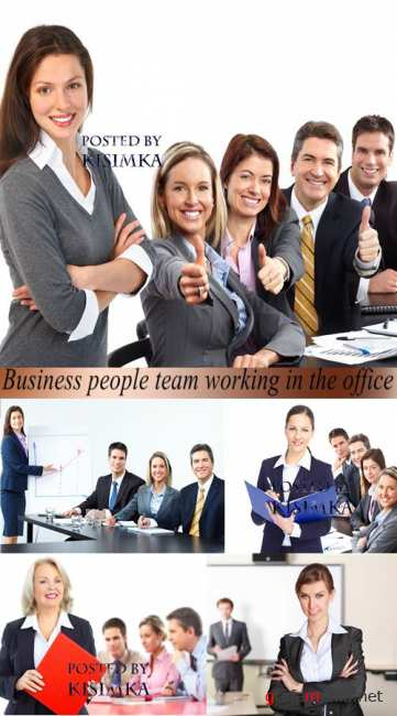 Stock Photo: Business people team working in the office