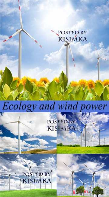 Stock Photo: Ecology and wind power 2