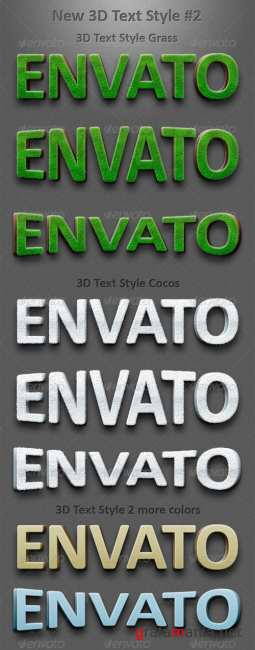 New 3D Text Styles #2 - GraphicRiver