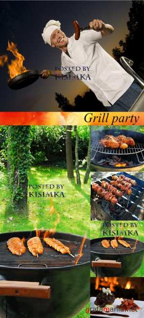 Stock Photo: Grill party
