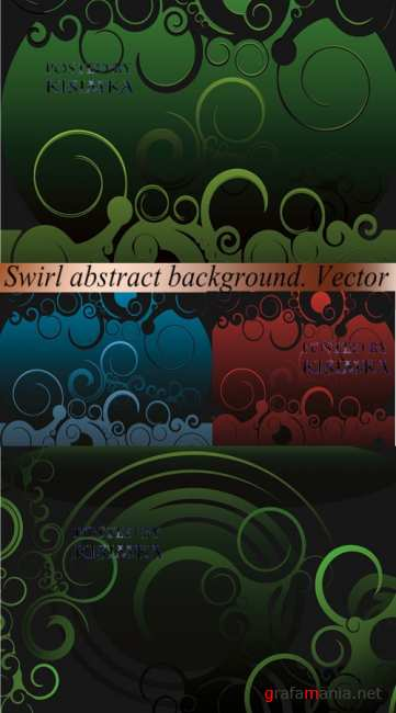 Stock: Swirl abstract background. Vector