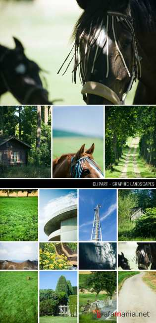 Clipart - Graphic landscapes