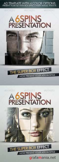 Ad And Party Flyer Template With Super Box Effect - GraphicRiver