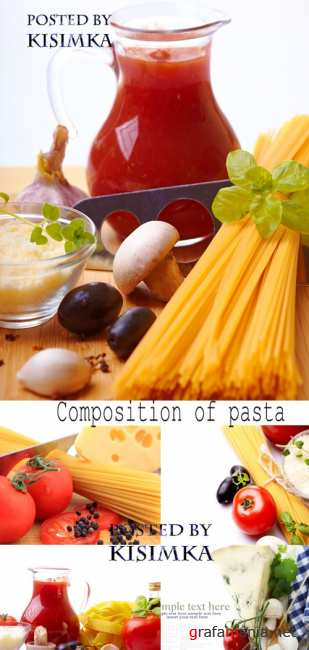 Stock Photo:Composition of pasta