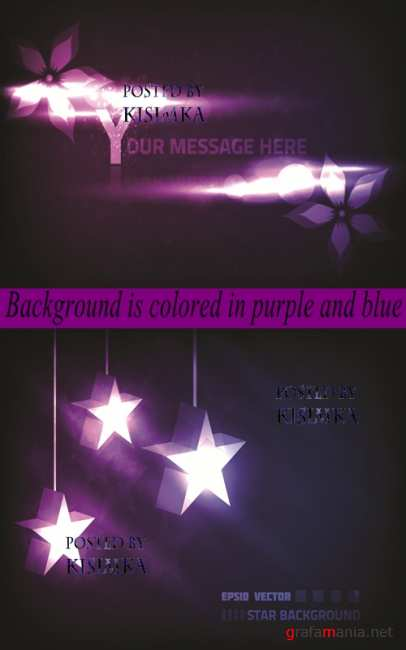 Stock: Background is colored in purple and blue