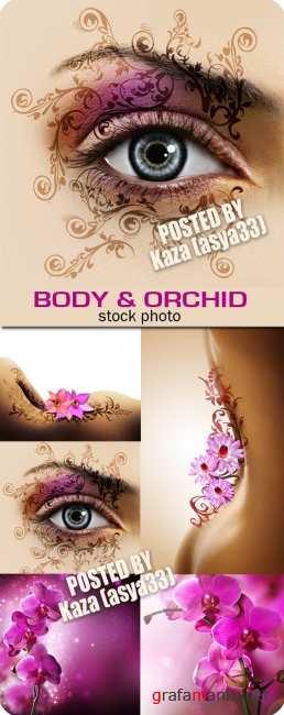 Woman body & orchid