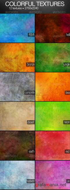 Colorful textures pack - GraphicRiver