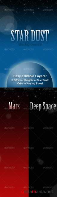 3 Star Dust Backgrounds - GraphicRiver