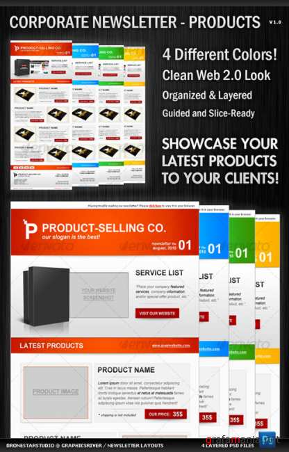 Corporate Newsletter Layout – GraphicRiver Print Templates