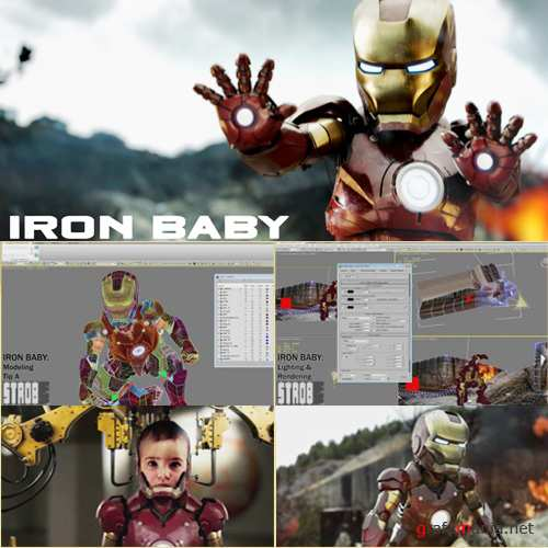 Strоb - Mаking Of Iron Bаby in 3ds Max & Vray [2011, ENG]
