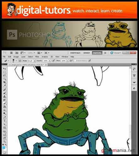 Digital Tutors – Creative Character Exploration – Aliens with Photoshop CS5 [ENG]
