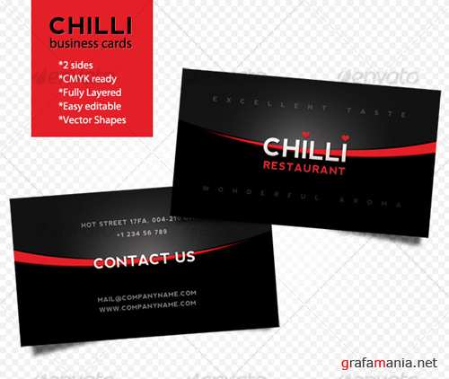 Chilli business cards - GraphicRiver