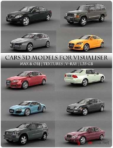Cars 3d models for visualiser