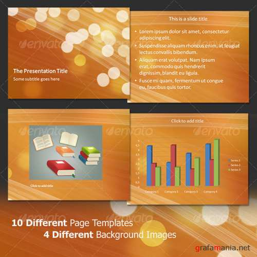 Light bubbles professional powerpoint template - GraphicRiver