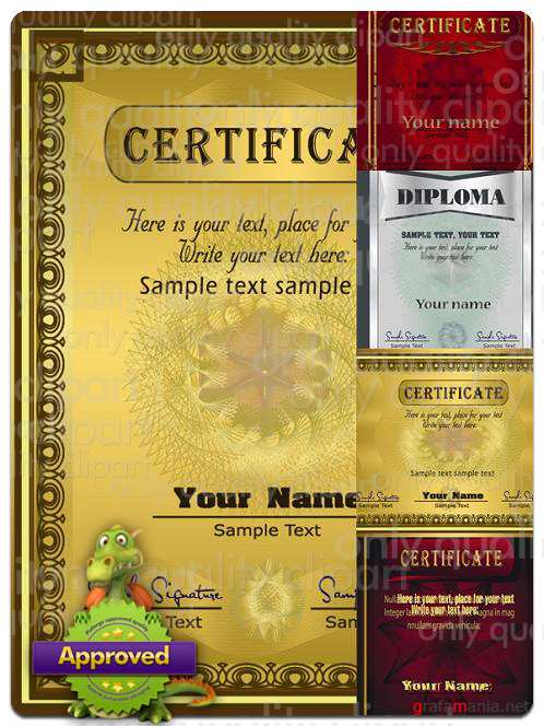Certificates & Diplomas - Vector Stock