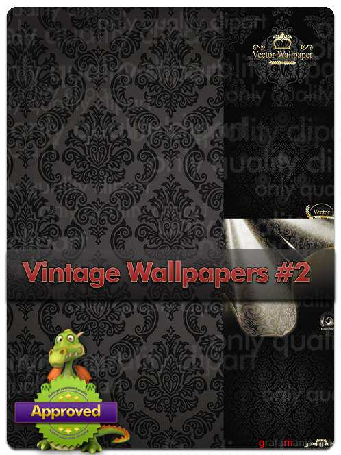 Vintage Wallpapers #2 - Vector Stock