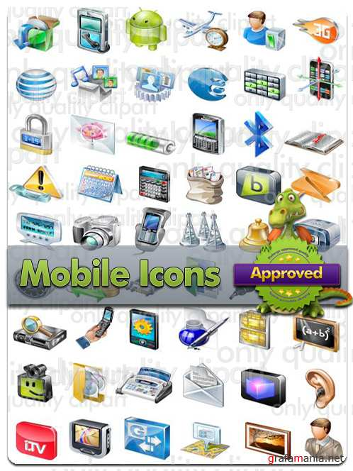 Mobile Icons - Vector Stock
