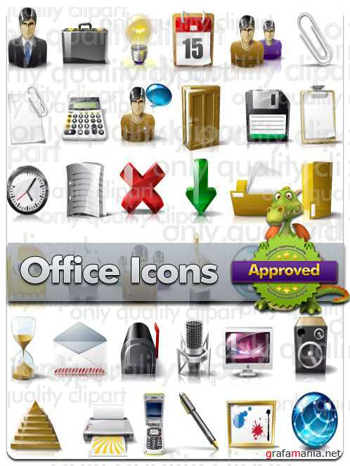 Office Icons - Vector Stock