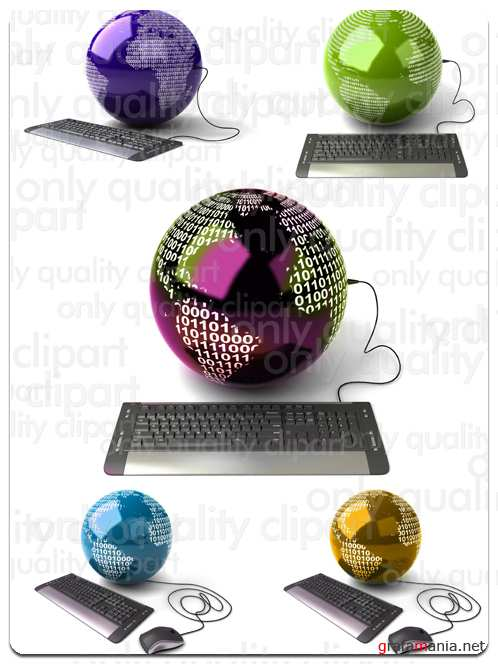 Keyboard and Communication - Stock Photo