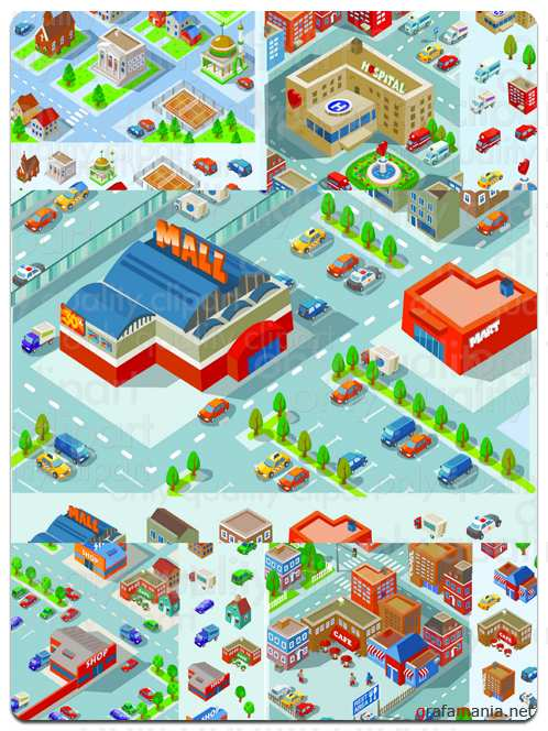 City Buildings - Vector Stock
