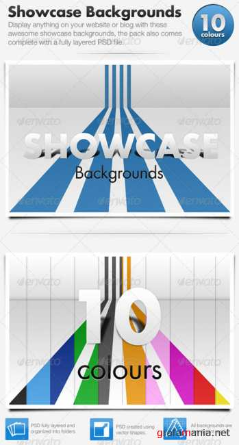 3D Showcase Line Backgrounds x10 - GraphicRiver