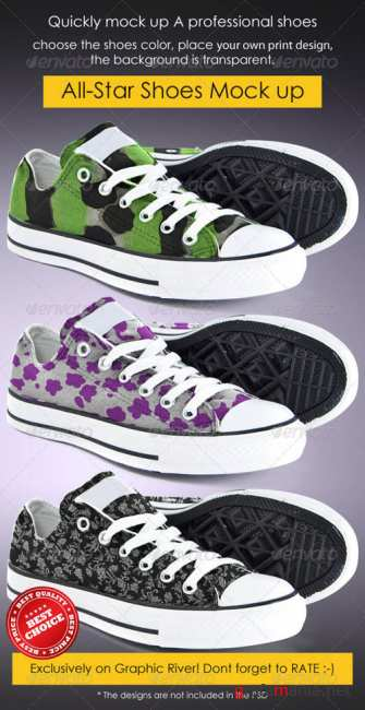 All-Star Shoes Mock-up - GraphicRiver