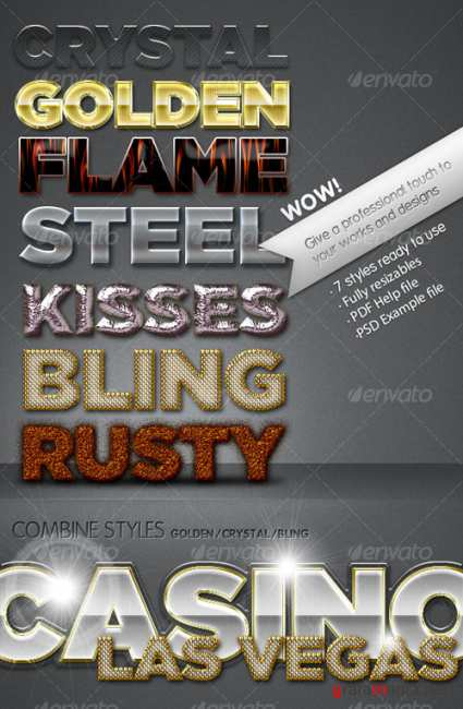 Professional text effects - GraphicRiver