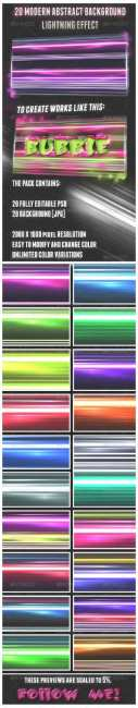 20 Abstract Background Lightning Effect - GraphicRiver