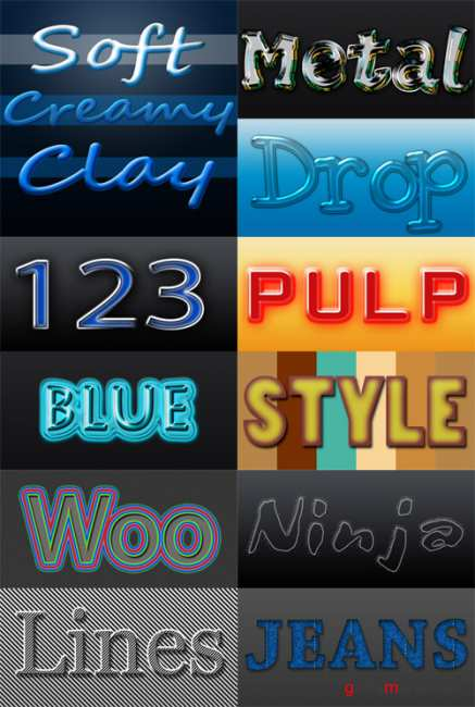New style pack for photoshop