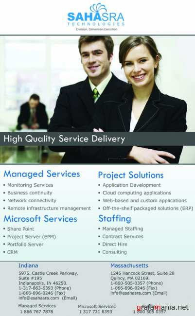 Brochure for services