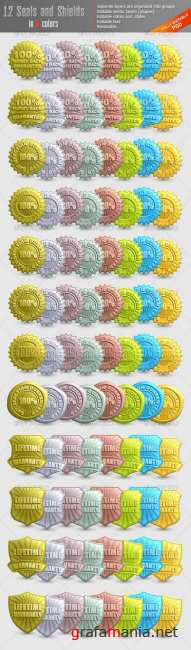 Embossed Seals and Shields - GraphicRiver