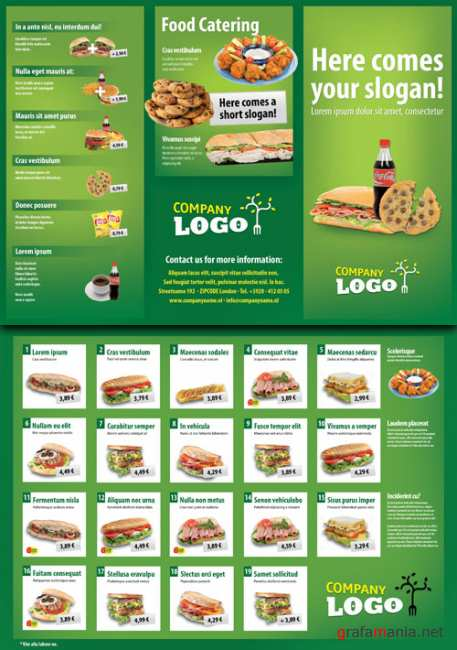 Brochure for fast food