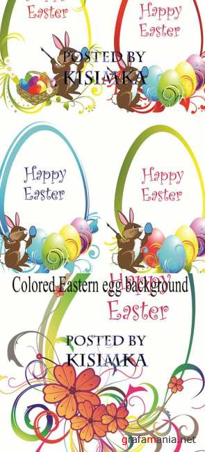 Stock: Colored Eastern egg background