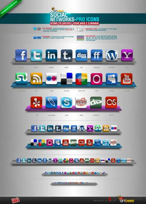 Social Networks Pro Icons - GraphicRiver