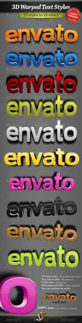 3D Warped Text Styles - Graphicriver