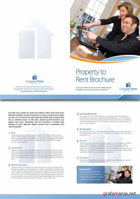 Template for rent brochure