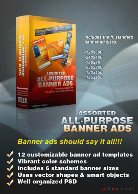 Assorted Allpurpose Banner Ad Template - GraphicRiver