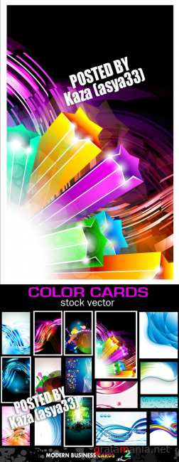 Color abstract cards