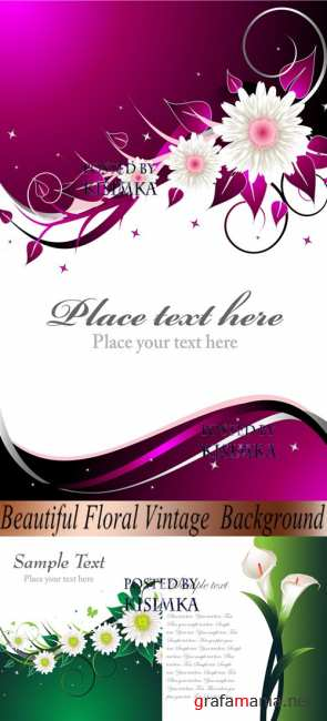 Stock: Beautiful Floral Vintage Background