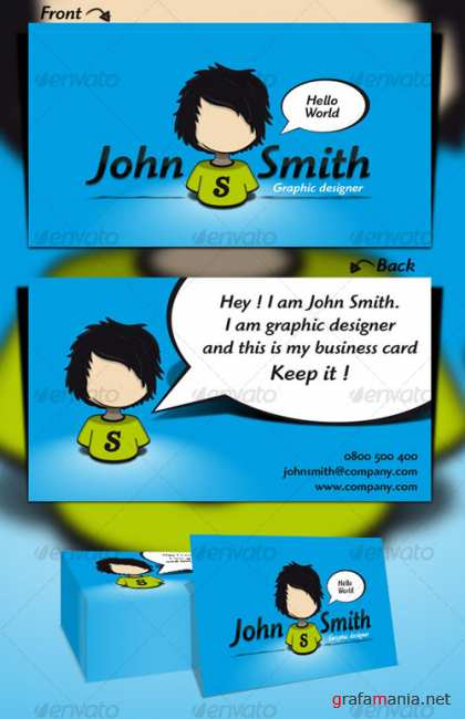 Hello World Business Card - GraphicRiver