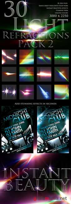 30 Light Refractions Pack 2 - GraphicRiver