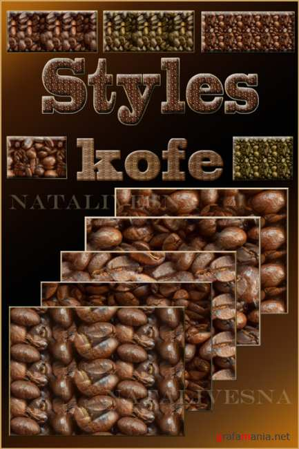 Coffee styles and textures