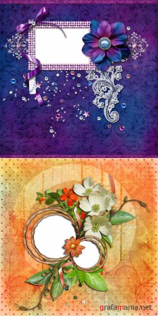 2 Bright spring scrap-pages