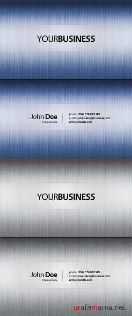 Blue and silver exclusive business cards
