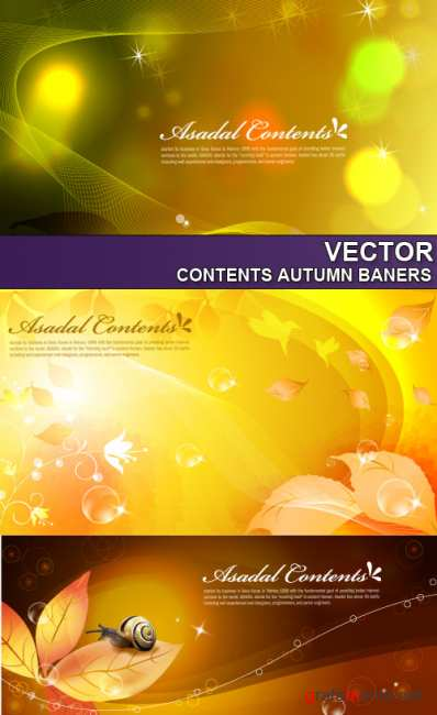 Contents Autumn baners