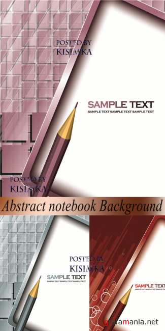 Stock: Abstract notebook Background. Vector Illustration