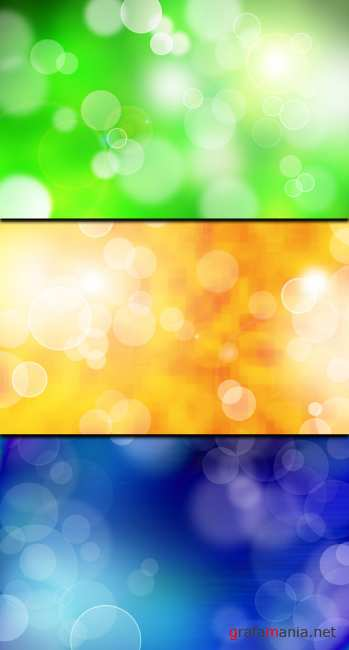 3 Colorful Bokeh background