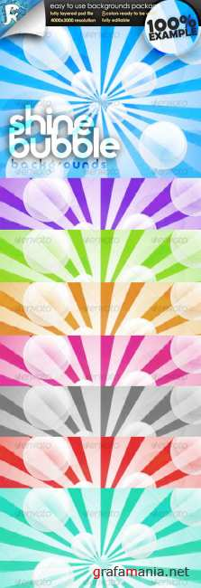 Shine Bubble Wallpaper - GraphicRiver